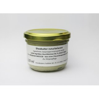 Sheabutter naturbelassen 120 ml
